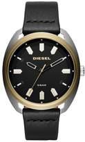 Diesel R) Fastbak Leather Strap Watch, 45mm x 51mm
