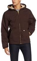 Dickies Men's Big-Tall Sanded Duck Sherpa Lined Hooded Jacket