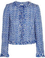 Alice + Olivia Nila Tweed Jacket - Blue