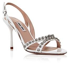 Miu Miu Women's Jewel Strappy High-Heel Sandals