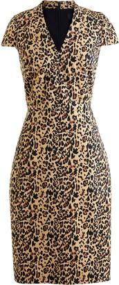 J.Crew Leopard V-Neck Sheath Dress