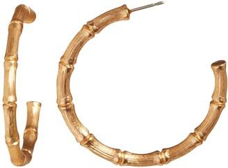 Banana Republic Gold Bamboo Hoop Earrings