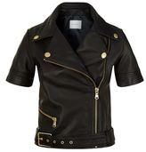 Pierre Balmain Short Sleeved Leather Jacket