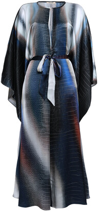 Roberto Cavalli Draped Printed Silk-satin Jumpsuit