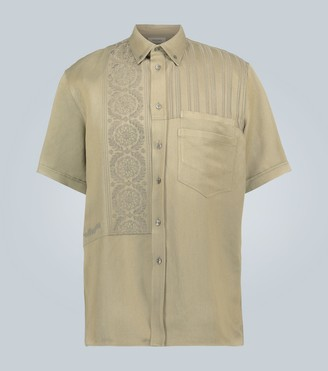 Rochas Embroidered short-sleeved overshirt