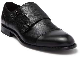 BOSS Stockholm Leather Cap Toe Monk Strap Dress Shoe