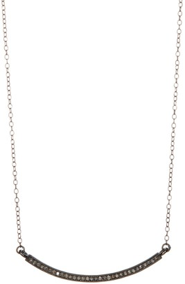 ADORNIA Mercer Champagne Diamond Curved Bar Necklace - 0.30 ctw