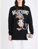 Moschino Rat-A-Porter longline wool jumper