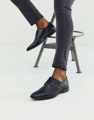 Walk London alfie derby shoes in black leather