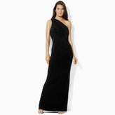 Ralph Lauren Long One-Shoulder Jersey Dress