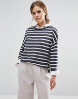 Vero Moda Altha Boxy Striped Long Sleeve Sweater