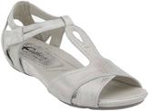 Earthies Off-White Metallic Ponza Sandal
