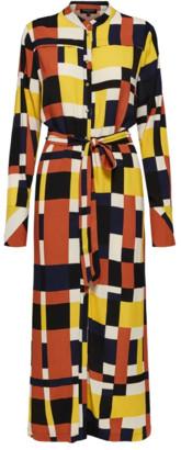 Selected Beautiful Printed Long Sleeved Ankle Dress - 36 (UK10)