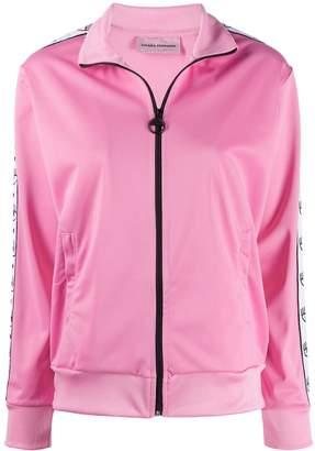 Chiara Ferragni zip-up logo band track jacket
