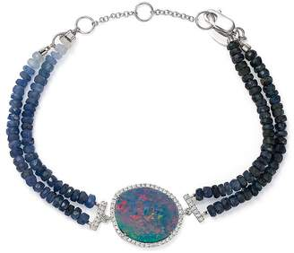 Meira T 14K White Gold Sapphire Beaded Bracelet with Opal and Diamonds