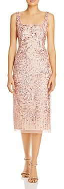 Adrianna Papell Embellished Midi Dress