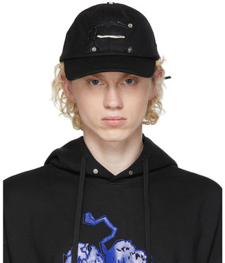 Ader Error Black Torn Label Cap