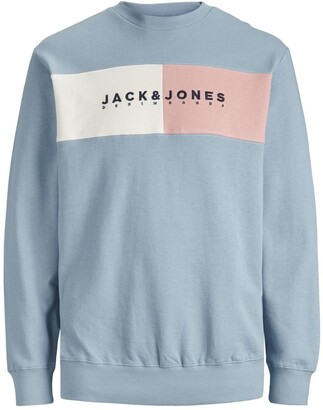 Jack and Jones Jorcalli Logo Crew Neck Sweatshirt