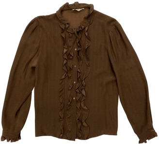 Christian Dior Brown Silk Top for Women Vintage