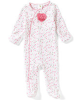 Starting Out Baby Girls Newborn-6 Months Heart-Print Footed Coverall