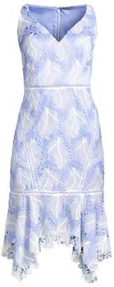 Elie Tahari Mariya Floral Crochet Dress