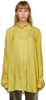 Ann Demeulemeester Yellow Asymmetric Shirt