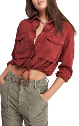 Urban Outfitters Bdg Crop Utility Shirt