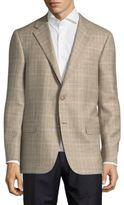 Hickey Freeman Milburn Plaid Two-Button Jacket