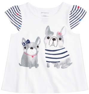 First Impressions Baby Girls Cotton Puppy Friends T-Shirt, Created for Macy's