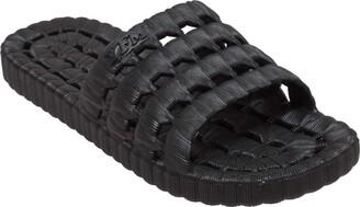 TECS PVC Slide Sandals for Men Beach Flip Flip & Lightweight Water Shoe with Open Toe for Showers & Outdoor Use
