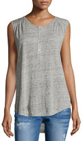 Velvet Phoenia Heathered Linen Tank Top