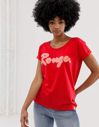 Blend She Timmy rouge slogan t-shirt-Red