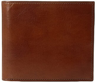 Bosca Old Leather Collection - Eight-Pocket Deluxe Executive Wallet w/ Passcase (Amber) Wallet Handbags