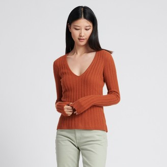 Naadam Cashmere Scoop Sweater Burnt Orange