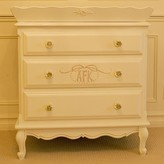 The Well Appointed House Monogrammed Three Drawer French Chest with Optional Changing Tray