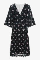 Monki Velvet wrap dress