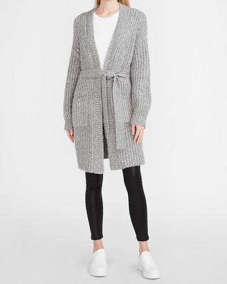 Express Chunky Belted Duster Cardigan