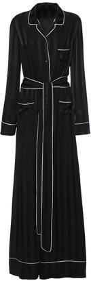 Dolce & Gabbana Jacquard Stripe Silk Satin Jumpsuit