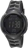 Skechers Men's 'Chevron Strap' Quartz Plastic Casual Watch, Color:Black (Model: SR1082)