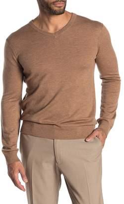 Theory Harman Rinland Wool Blend V-Neck Sweater