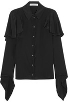 J.W.Anderson Ruffled Crepe De Chine Blouse - Black