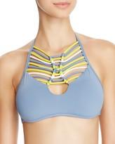 Becca by Rebecca Virtue Electric Current High Neck Bikini Top