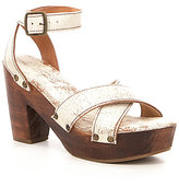 Bed Stu Kalah Banded Criss-Cross Leather Studded Platform Sandals