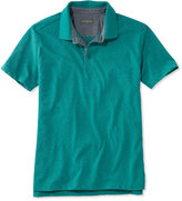 L.L. Bean Signature Textured Knit Polo, Short-Sleeve
