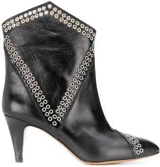 Isabel Marant Lahia eyelets ankle boots