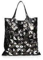 Bao Bao Issey Miyake Platinum Mix Faux Patent Leather Tote