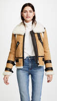 Veronica Beard Windsor Pilot Shearling Jacket