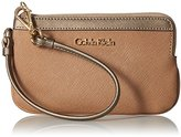 Calvin Klein Saffiano Wristlet