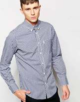 Ben Sherman Shirt With Gingham Check - Blue