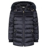Yves Salomon Yves SalomonGirls Navy Blue Down Padded Coat